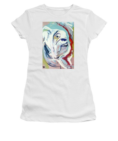 Women's T-Shirt featuring the painting Ugga Side by John Jr Gholson