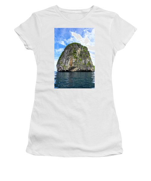 Uinhabited Island Women's T-Shirt (Athletic Fit)