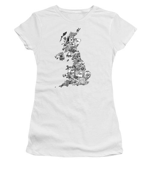 Uk Map Women's T-Shirt (Athletic Fit)