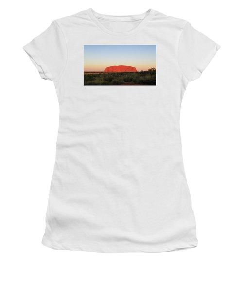 Uluru At Sunset Women's T-Shirt