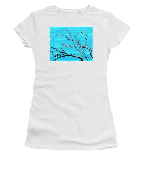 Under A Tree Women's T-Shirt (Athletic Fit)