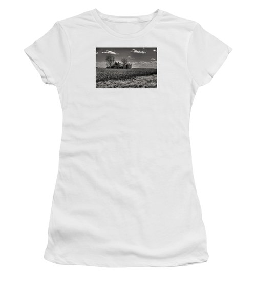 Women's T-Shirt (Junior Cut) featuring the digital art Under The Crush Of The Lowering Sky by William Fields