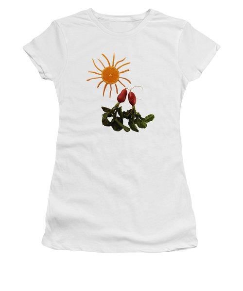 Under The Tangerine Sun - On White Women's T-Shirt (Athletic Fit)