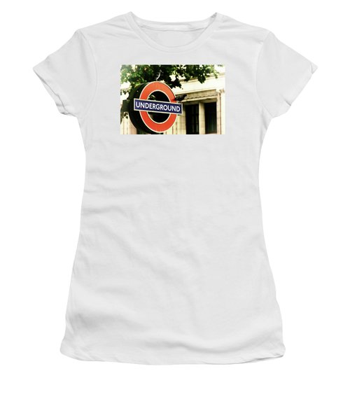 Women's T-Shirt (Athletic Fit) featuring the photograph Underground by Rasma Bertz
