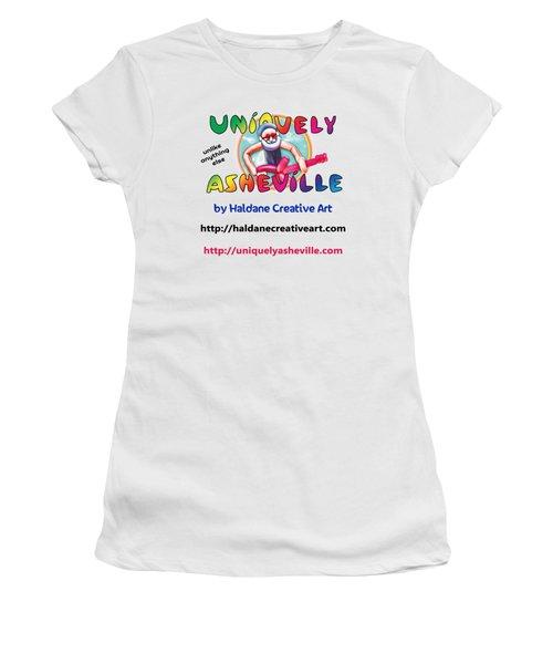 Uniquely Asheville Square Women's T-Shirt (Junior Cut) by John Haldane