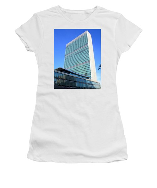 Women's T-Shirt (Junior Cut) featuring the photograph United Nations 1 by Randall Weidner