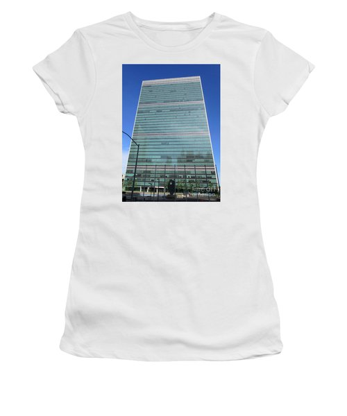 Women's T-Shirt (Junior Cut) featuring the photograph United Nations 3 by Randall Weidner
