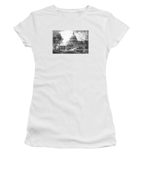 United States Capitol Building Women's T-Shirt (Athletic Fit)