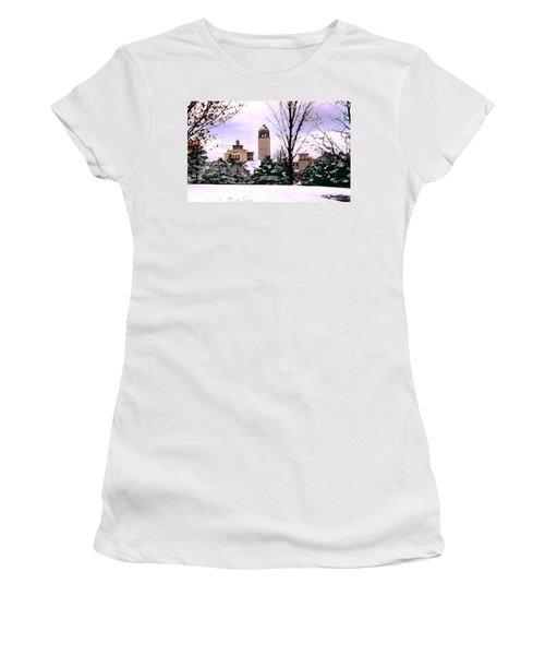 Women's T-Shirt (Junior Cut) featuring the photograph Unity Village by Steve Karol