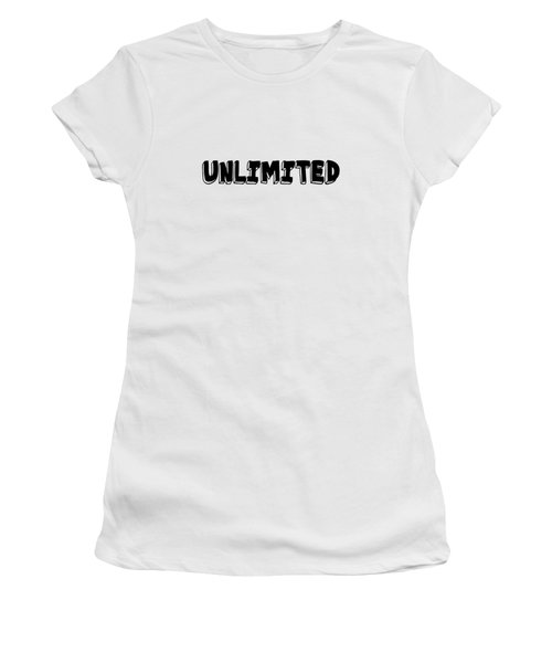 Unlimited - Art Print Poster, One Word Quotes  Women's T-Shirt