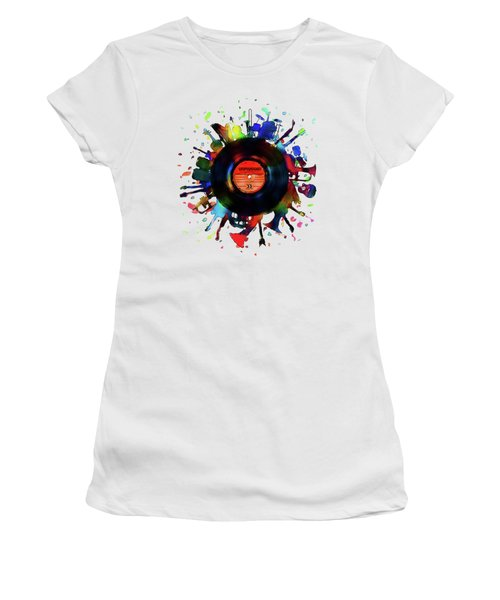 Unplugged Women's T-Shirt (Junior Cut) by Mustafa Akgul