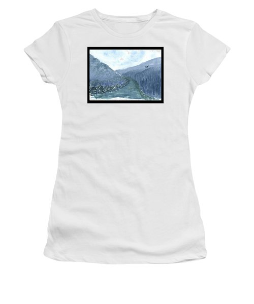 Up The River Women's T-Shirt (Athletic Fit)