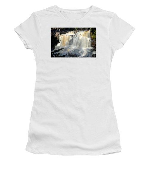 Upper Falls Gooseberry River Women's T-Shirt (Athletic Fit)