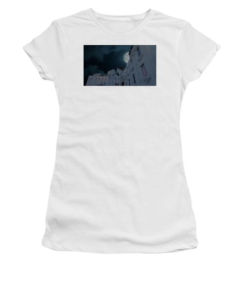Upside Down White House At Night Women's T-Shirt (Athletic Fit)