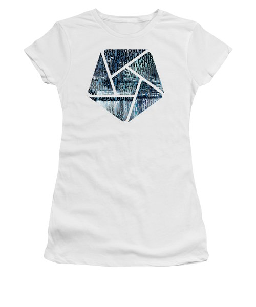Urban-art Nyc Brooklyn Bridge I Women's T-Shirt (Junior Cut) by Melanie Viola