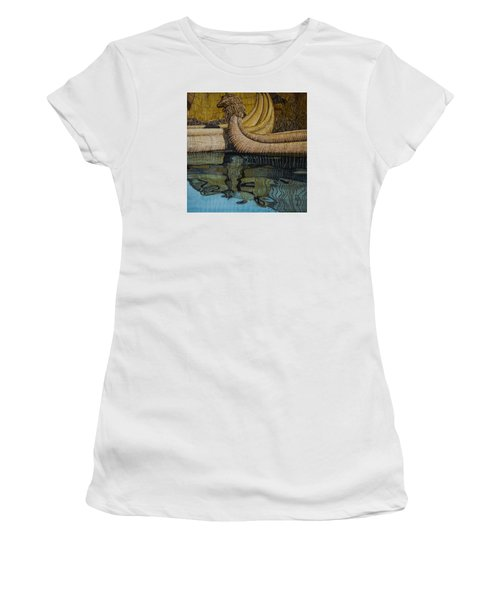 Uros Straw Boats And Island Women's T-Shirt (Athletic Fit)