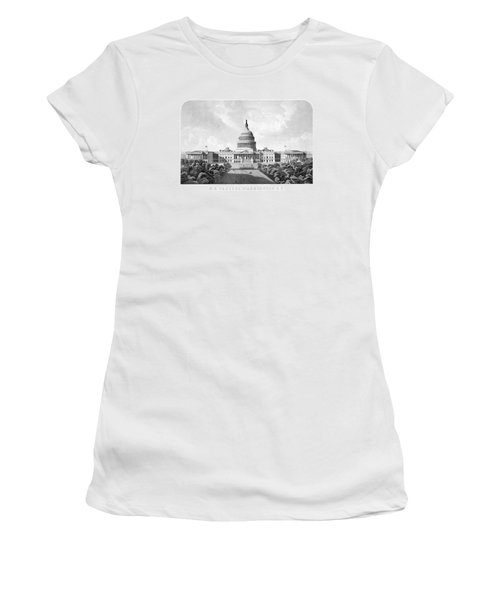 Us Capitol Building - Washington Dc Women's T-Shirt (Junior Cut) by War Is Hell Store