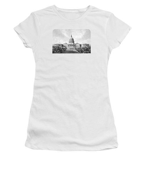 Us Capitol Building - Washington Dc Women's T-Shirt (Junior Cut)