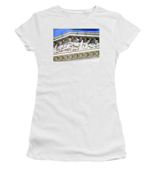 Us Supreme Court 4 Women's T-Shirt (Junior Cut) by Randall Weidner