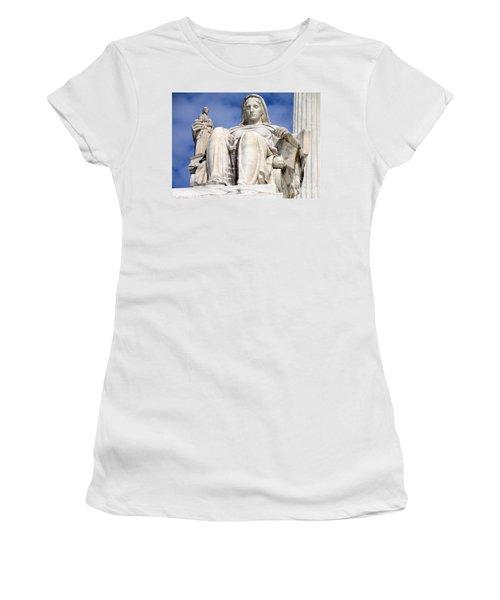 Us Supreme Court 7 Women's T-Shirt (Junior Cut) by Randall Weidner