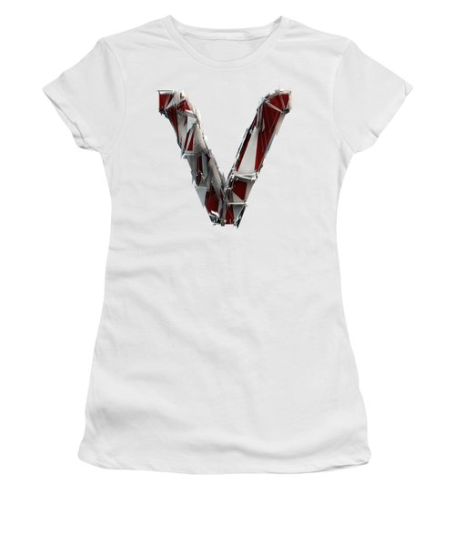 Women's T-Shirt featuring the photograph V Is Very Very Extraordinary  by Gary Keesler