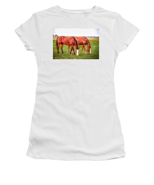 Women's T-Shirt featuring the photograph V90 Over For Dinner by Melinda Ledsome