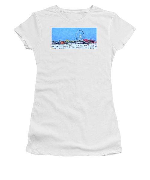 Women's T-Shirt (Junior Cut) featuring the photograph Vacation by Kathy Bassett