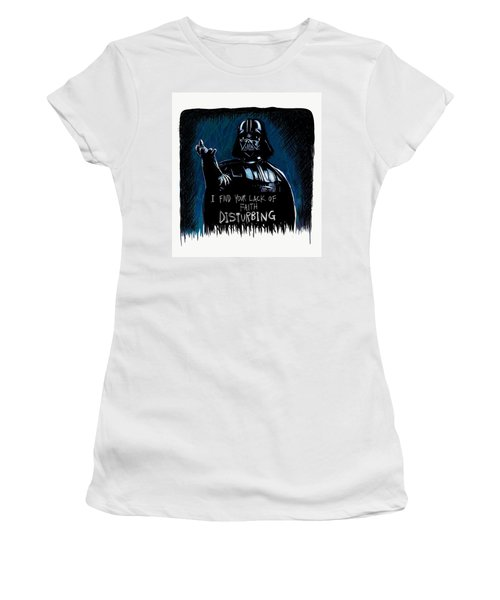 Women's T-Shirt (Athletic Fit) featuring the digital art Vader by Antonio Romero