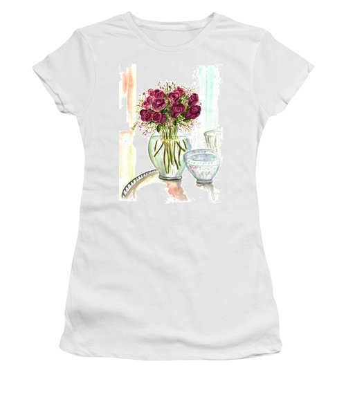 Valentines Crystal Rose Women's T-Shirt (Athletic Fit)