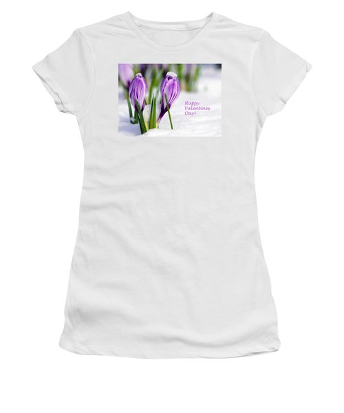 Valentines Day Crocuses Women's T-Shirt (Athletic Fit)