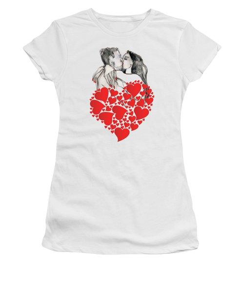 Valentine's Kiss - Valentine's Day Women's T-Shirt