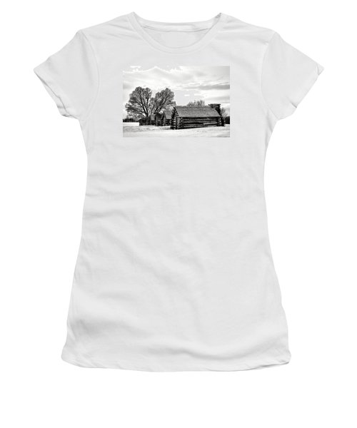 Valley Forge Barracks In Winter  Women's T-Shirt
