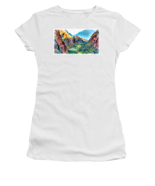 Valley Of Colours. Women's T-Shirt (Athletic Fit)