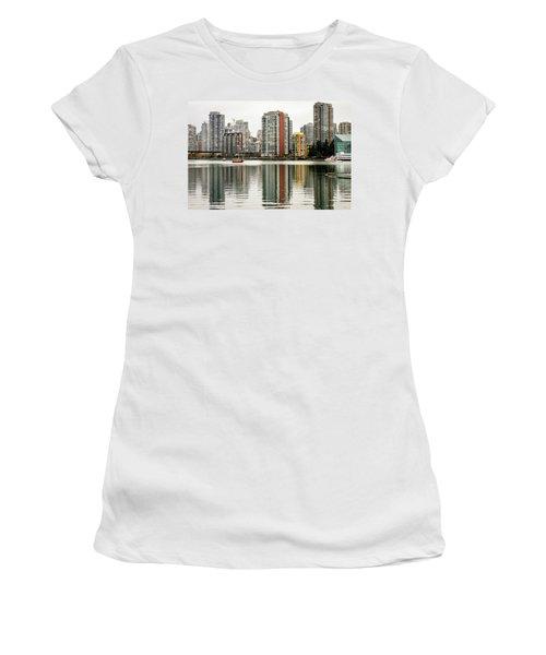 Vancouver Bc Sky Line Women's T-Shirt (Junior Cut) by Menachem Ganon
