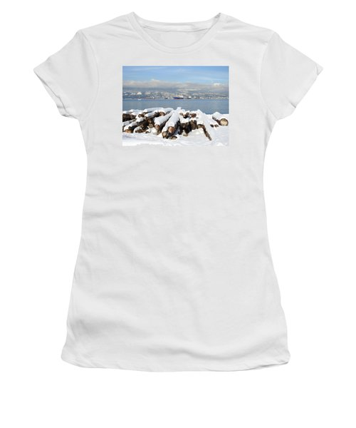 Vancouver Winter Women's T-Shirt (Junior Cut) by Brian Chase