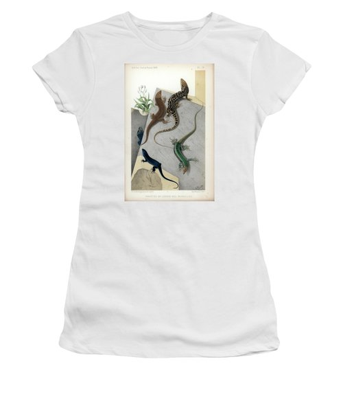 Varieties Of Wall Lizard Women's T-Shirt (Junior Cut) by Jacques von Bedriaga