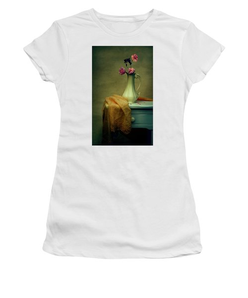 Vase Of Pink Roses Women's T-Shirt (Athletic Fit)