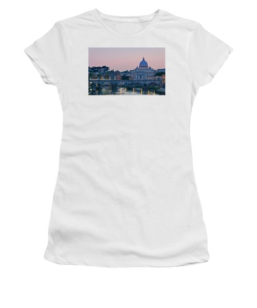 Vatican City At Sunset Women's T-Shirt (Athletic Fit)