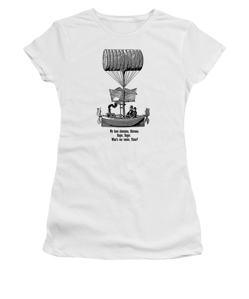 Women's T-Shirt featuring the digital art Vector Victor Vintage Airship by Barbara St Jean