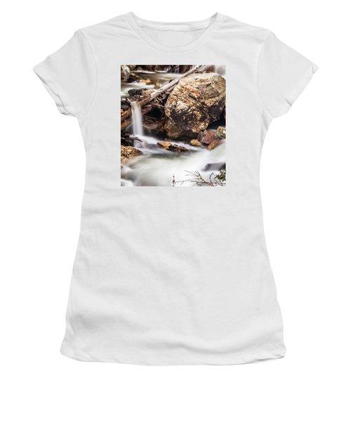 Velvet Falls - Rocky Mountain Stream Women's T-Shirt (Athletic Fit)