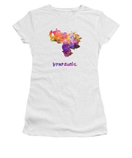 Venezuela In Watercolor Women's T-Shirt