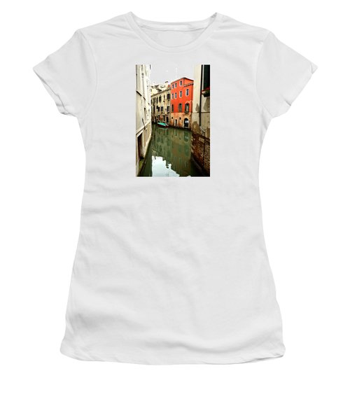 Venice Street Scene 3 Women's T-Shirt (Junior Cut) by Richard Ortolano