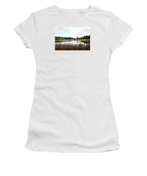 Vermont Scenery Women's T-Shirt (Junior Cut) by Rena Trepanier