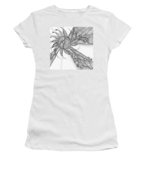 Women's T-Shirt (Athletic Fit) featuring the drawing Verve by Jan Steinle