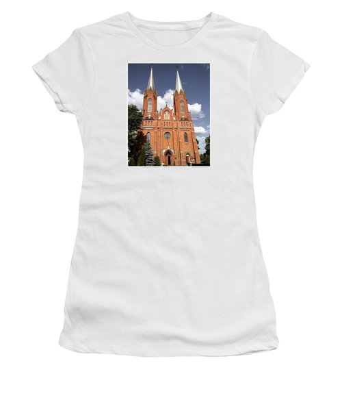 Very Old Church In Odrzywol, Poland Women's T-Shirt (Junior Cut) by Arletta Cwalina