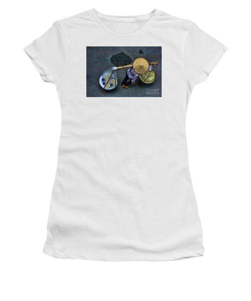 Vietnamese Woman Work Women's T-Shirt (Junior Cut) by Chuck Kuhn