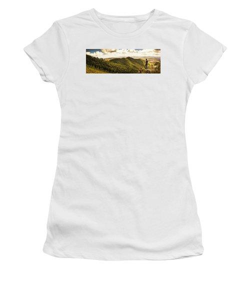 View From Halfway Up Mount Zeehan Women's T-Shirt