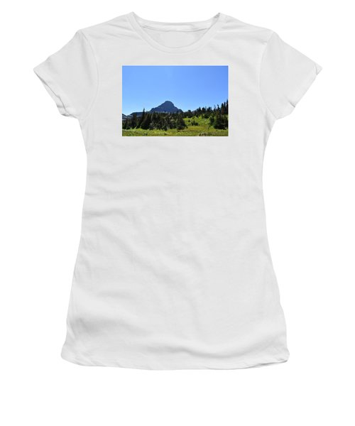 Women's T-Shirt (Junior Cut) featuring the photograph View From Logan's Pass by Dacia Doroff