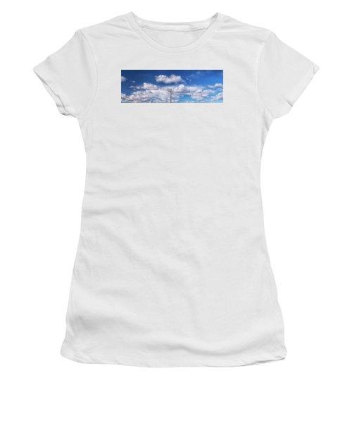 View Of A Phone Pole Women's T-Shirt (Junior Cut) by Gary Warnimont