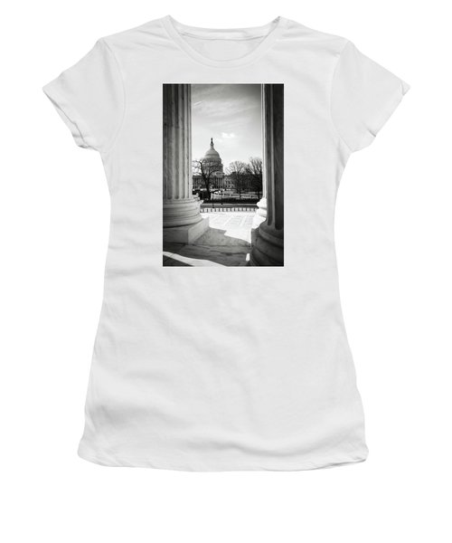 View Of Capitol Hill Through The Supreme Court Women's T-Shirt